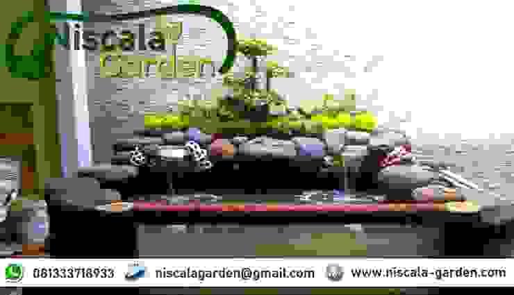 Desain Kolam Koi Klasik NISCALA GARDEN   Tukang Taman Surabaya Bangunan Kantor Klasik