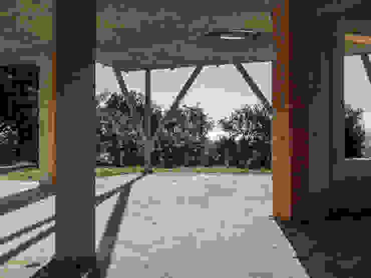 Vista del PORTICATO DALL'INTERNO della proprietà in costruzione, VENDUTA PROPERTY TALES Villa