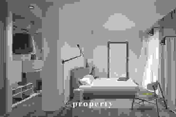 Render di progetto della CAMERA MATRIMONIALE della proprietà in costruzione, VENDUTA PROPERTY TALES Villa