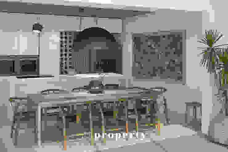 Render di progetto della CUCINA della proprietà in costruzione, VENDUTA PROPERTY TALES Villa