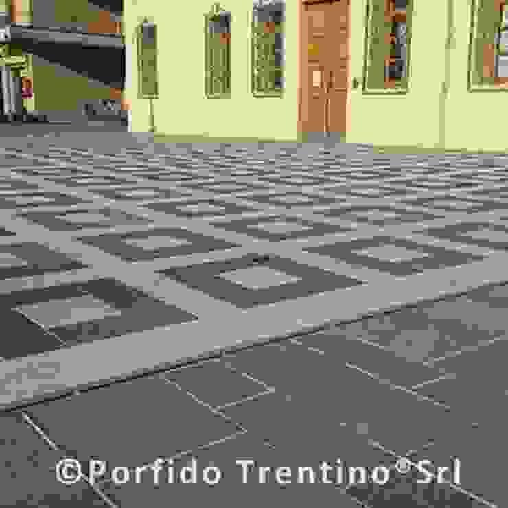 PORFIDO TRENTINO SRL Centros comerciales de estilo mediterráneo Piedra Multicolor