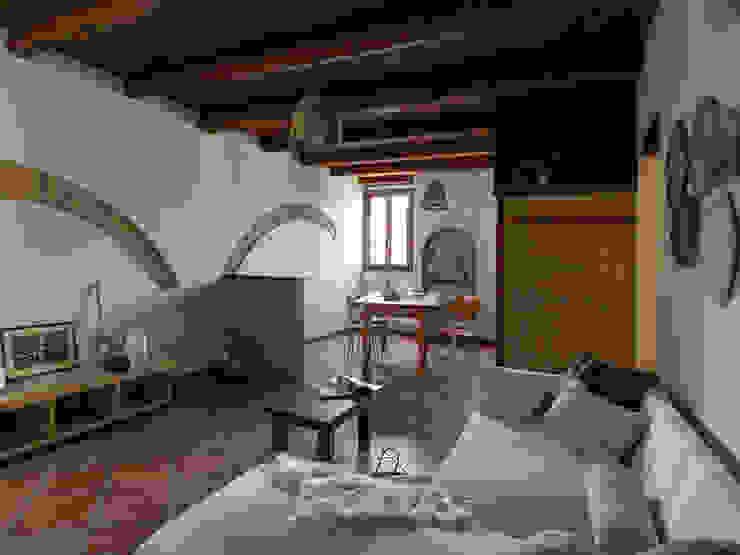 Foto INGRESSO appartamento ristrutturato DOPO il nostro intervento, VENDUTO PROPERTY TALES Soggiorno in stile rustico