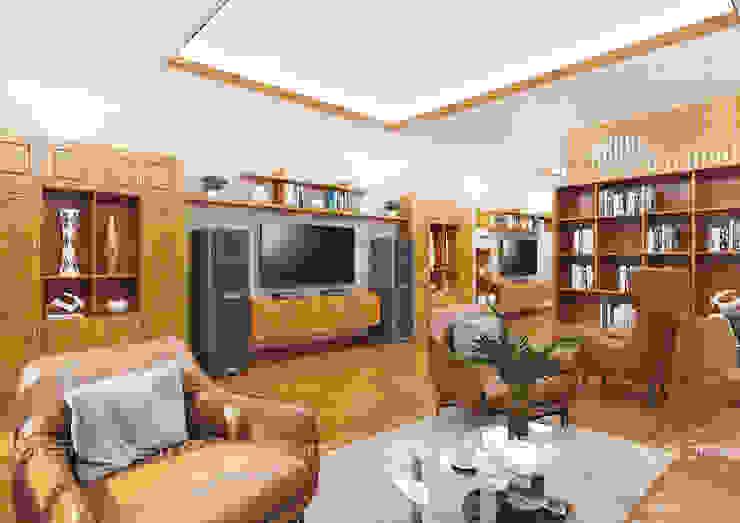 Không gian nội thất phòng ngủ Master Công ty TNHH Thiết Kế Xây Dựng Xanh Hoàng Long BedroomBeds & headboards Gỗ Wood effect