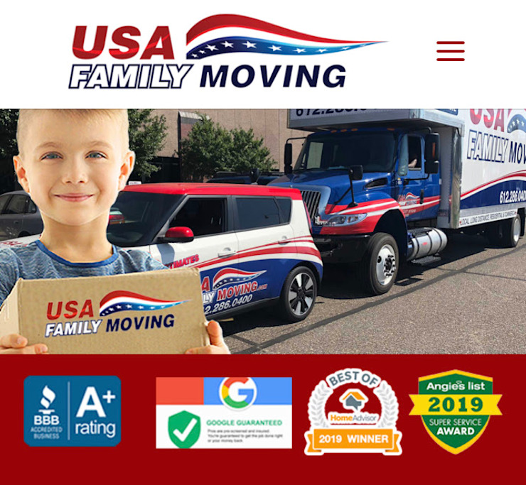 USA Family Moving & Storage Country style dressing room