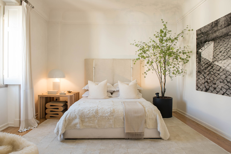 Master Suite Atelier Renata Santos Machado Quartos modernos Branco