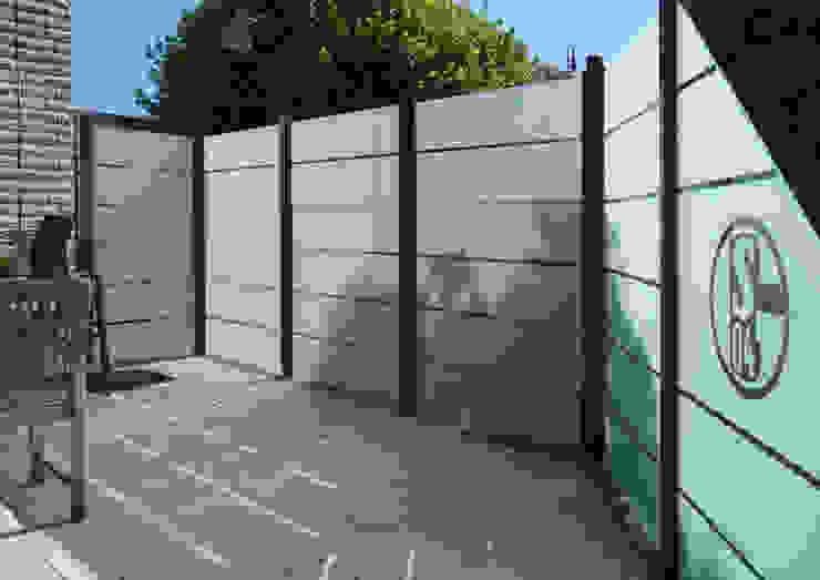 ZAUN-AUS-GLAS Giardino moderno Vetro