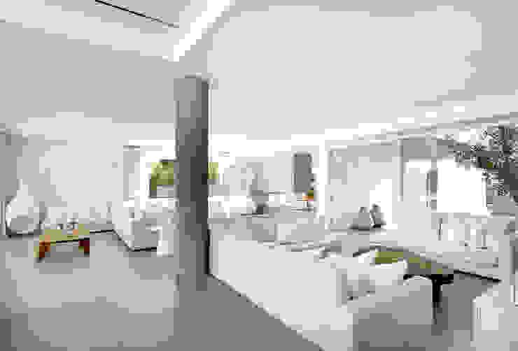 Sala de Estar Atelier Renata Santos Machado Salas de estar minimalistas