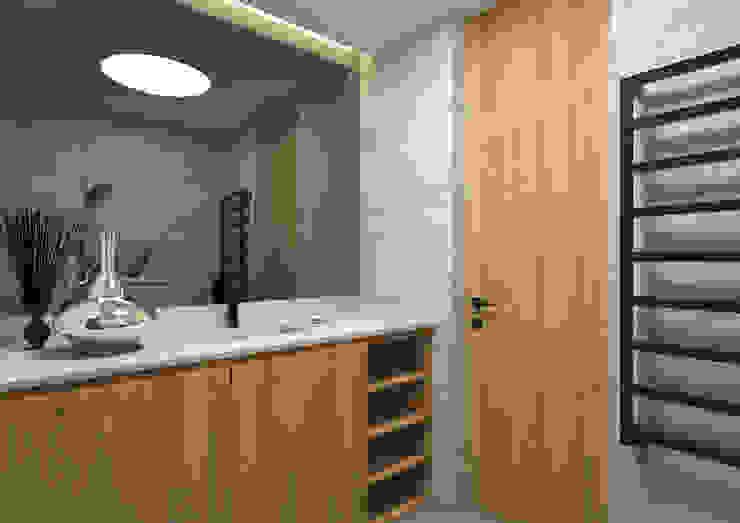 ARCHDESIGN LX Minimalist bathroom Wood Wood effect