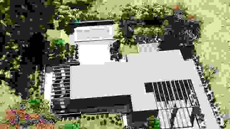 Diseño y ejecución de jardín en Valdemorillo PAUsostenibilidad, Paisajismo, Arquitectura y Urbanismo Jardines de estilo moderno
