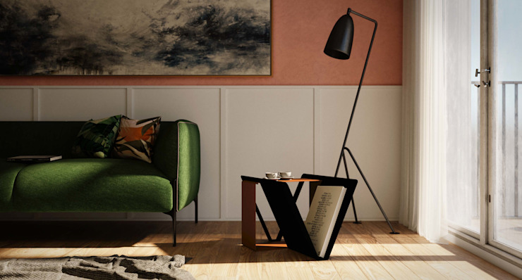 Join tavolino soggiorno di Damiano Latini srl Minimalista Alluminio / Zinco