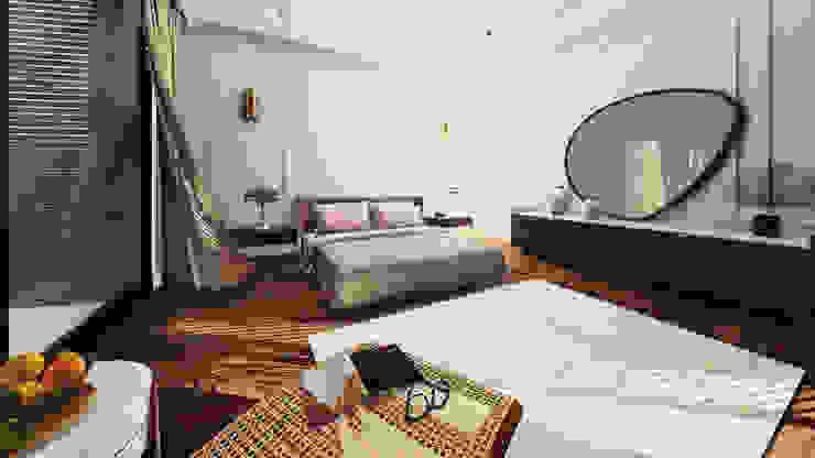 Villa Urla İç Mekan Projesi Püren Ünlü Architecture and Design Studio Modern Yatak Odası