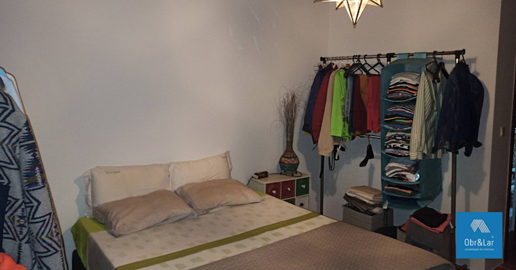 Armários roupeiros de cabeceira de cama Obr&Lar - Remodelação de Interiores QuartoArmários Aglomerado Bege