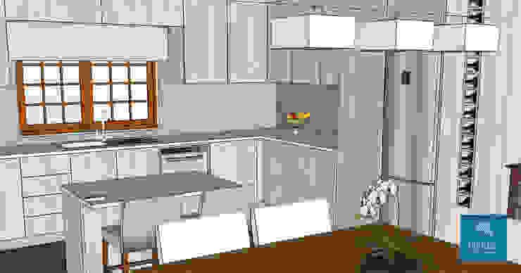 Obr&Lar - Remodelação de Interiores Built-in kitchens Chipboard Grey