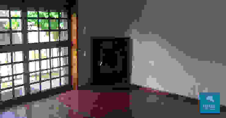 Obr&Lar - Remodelação de Interiores Modern Living Room Chipboard Grey