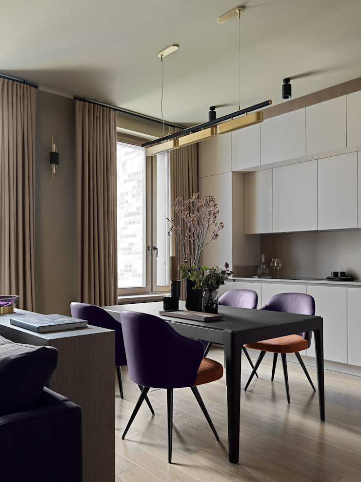 Дизайн бюро Татьяны Алениной Modern dining room Beige