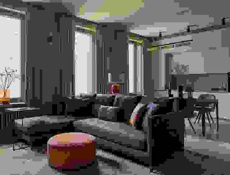 Дизайн бюро Татьяны Алениной Modern living room White