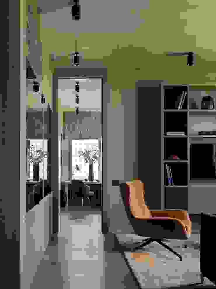 Дизайн бюро Татьяны Алениной Modern living room Beige