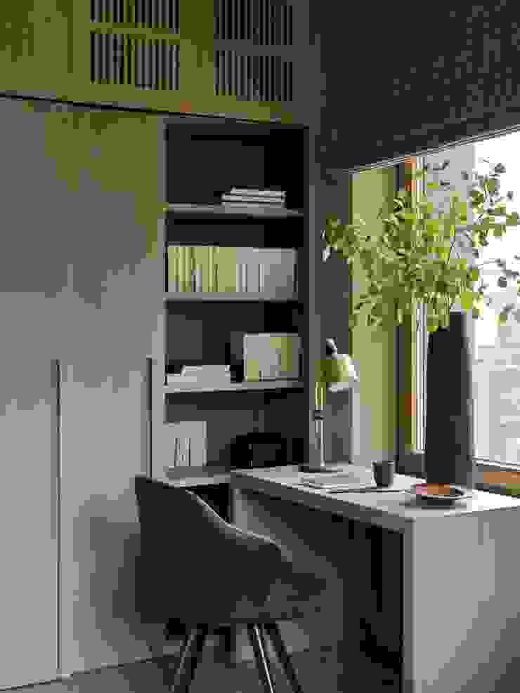 Дизайн бюро Татьяны Алениной Modern study/office Beige