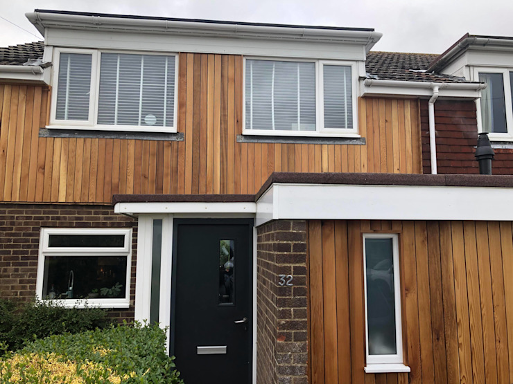 Brighton Contemporary Rear Extension STAAC Terrace house Wood Brown