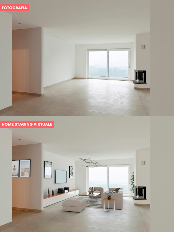 InstantRender Salones de estilo moderno