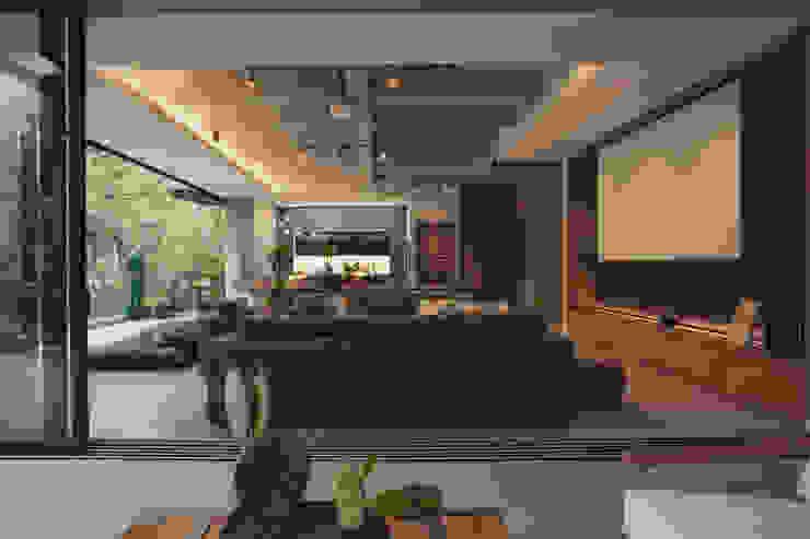 Adrede Diseño Rustic style living room Concrete Grey