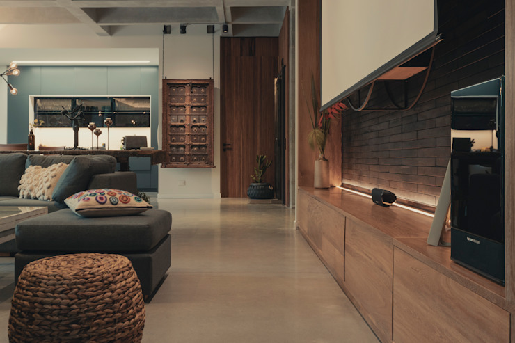 Adrede Diseño Rustic style living room