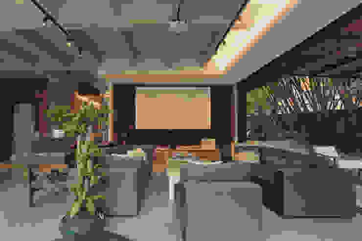 Adrede Diseño Rustic style living room Grey