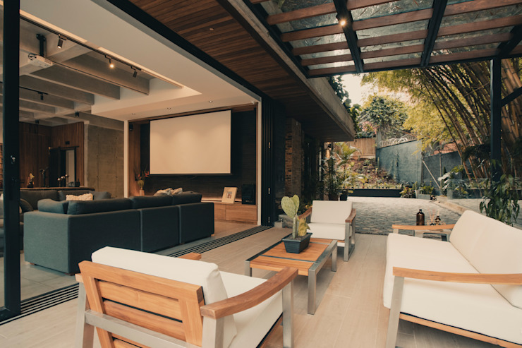 Adrede Diseño Modern living room Metal White
