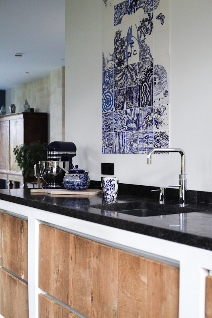 José den Hartog Kitchen units Tiles Blue