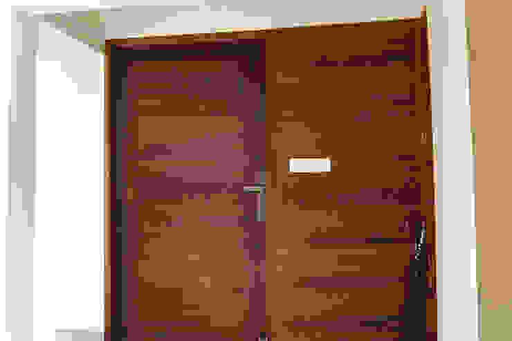 Modern Wood Front Door with CNC Cutting Radianz Design-Build Front doors Wood