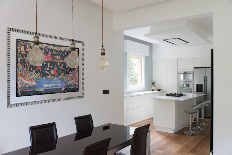 Andrea Orioli Comedores de estilo minimalista Concreto Gris