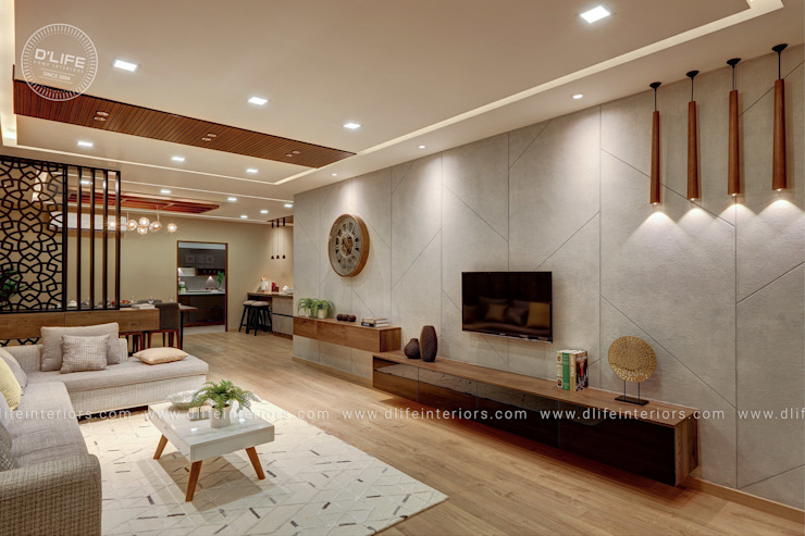 Customized Luxury Living Space by DLIFE DLIFE Home Interiors Living roomAccessories & decoration
