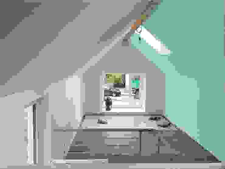 Minzgrün wirkt beruhigend archipur Architekten aus Wien Minimalistische Wohnzimmer Grün