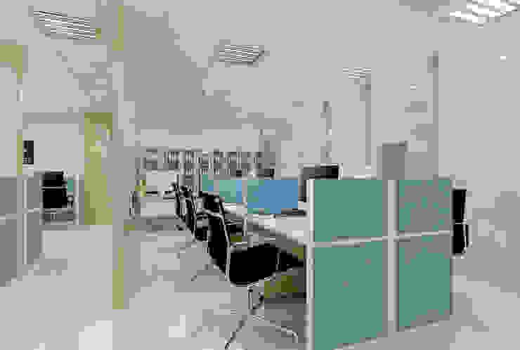 VĂN PHÒNG PHỔ BÌNH Công ty TNHH Thiết Kế Xây Dựng Xanh Hoàng Long Office spaces & stores Gỗ Wood effect