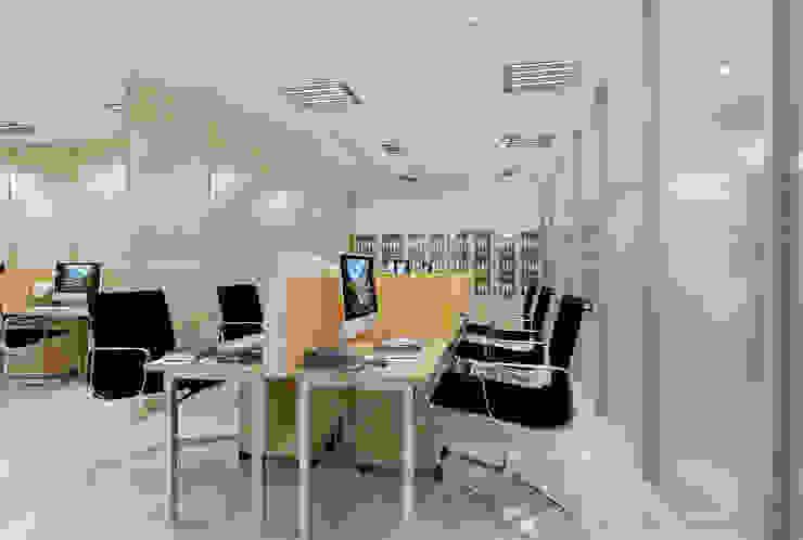 Không gian nội thất Công ty TNHH Thiết Kế Xây Dựng Xanh Hoàng Long Office spaces & stores Gỗ Wood effect