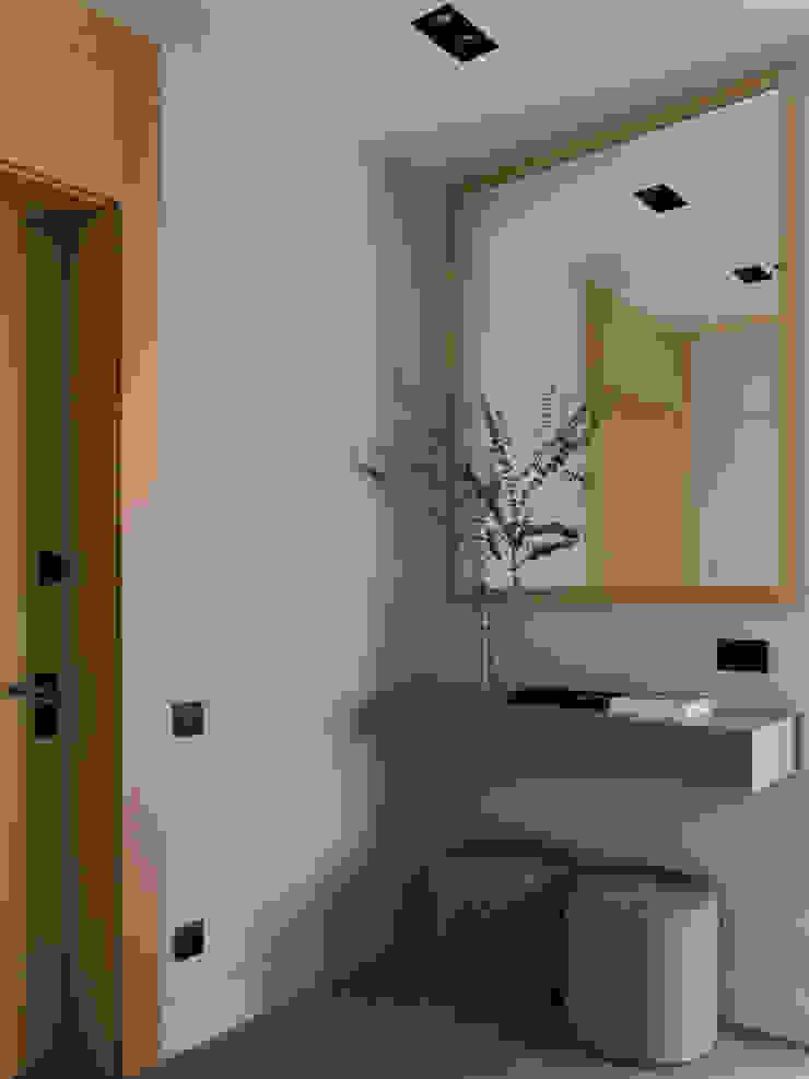 Дизайн бюро Татьяны Алениной Modern Corridor, Hallway and Staircase Grey