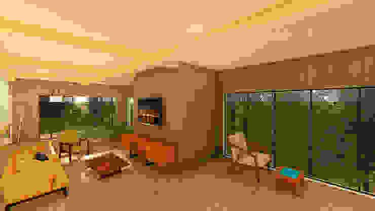 South Carolina House - Loft NSBW Modern living room Wood Wood effect