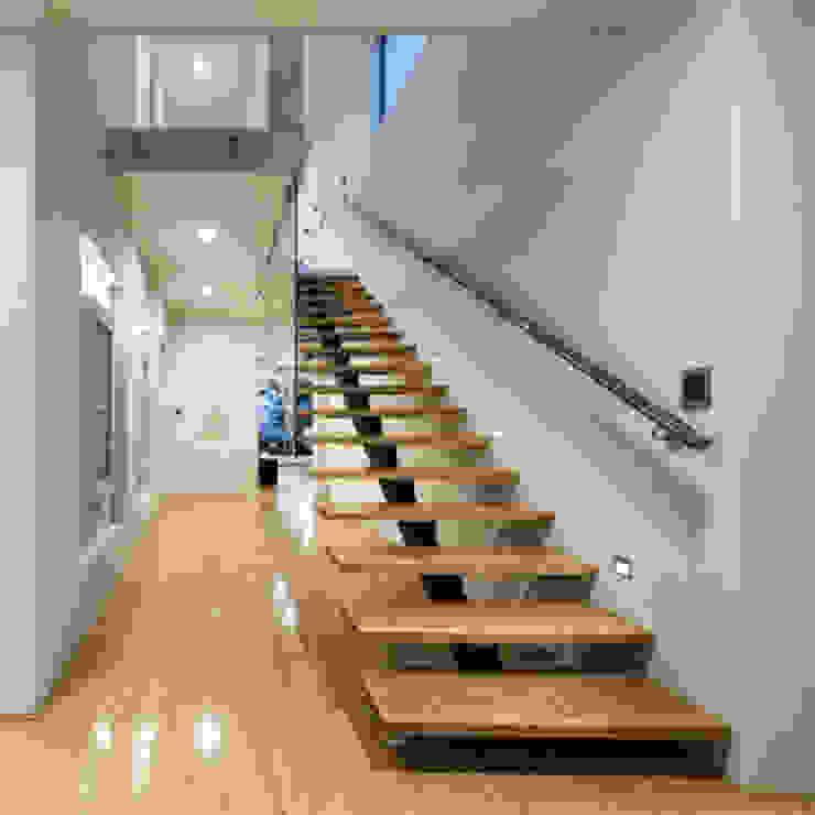 كاسل للإستشارات الهندسية وأعمال الديكور والتشطيبات العامة Corridor, hallway & stairsStairs Paper Brown