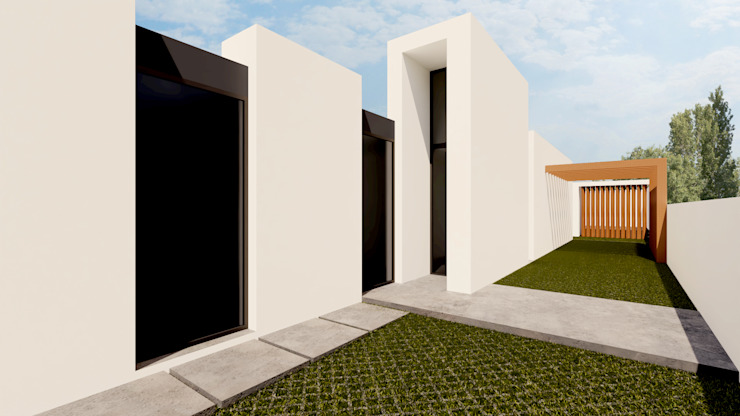 Main entrance Linhas Simples Villas Grey
