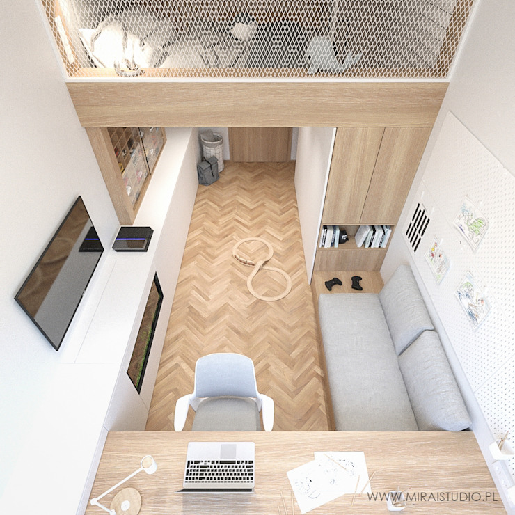 MIRAI STUDIO Boys Bedroom Wood Wood effect