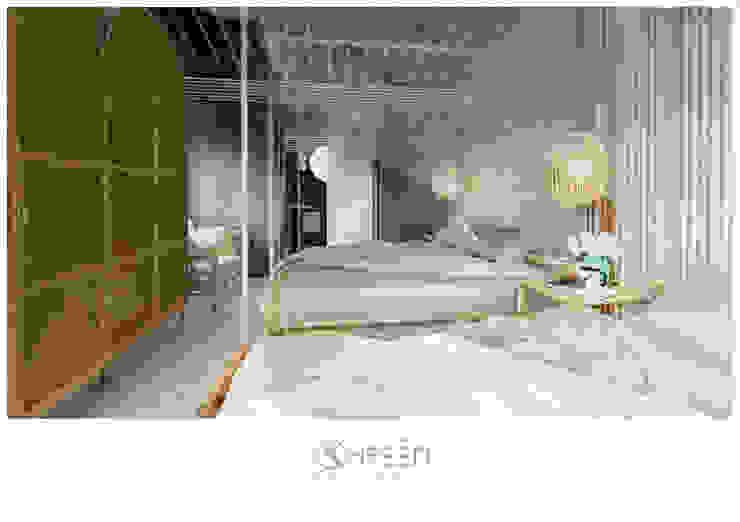 Thiết kế nội thất Công ty TNHH Thiết Kế Xây Dựng Xanh Hoàng Long BedroomBeds & headboards Tre Wood effect
