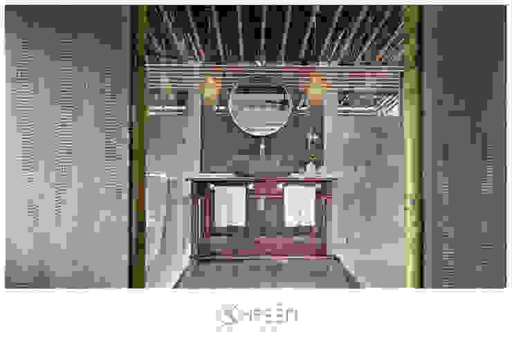 Thiết kế nội thất Công ty TNHH Thiết Kế Xây Dựng Xanh Hoàng Long BathroomDecoration Tre Wood effect