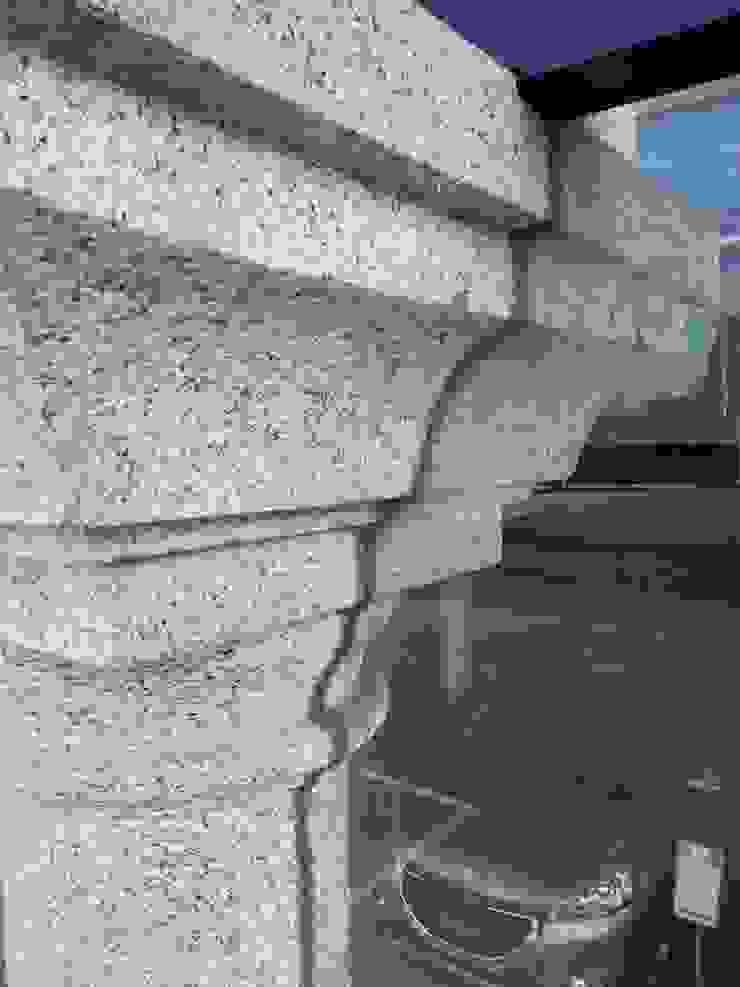 Detalle entrada principal ARDEIN SOLUCIONES S.L. Concesionarios de estilo moderno Marrón
