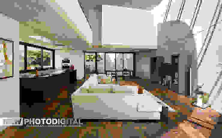 Foto inserimento / livingroom New Photodigital Spazi commerciali moderni