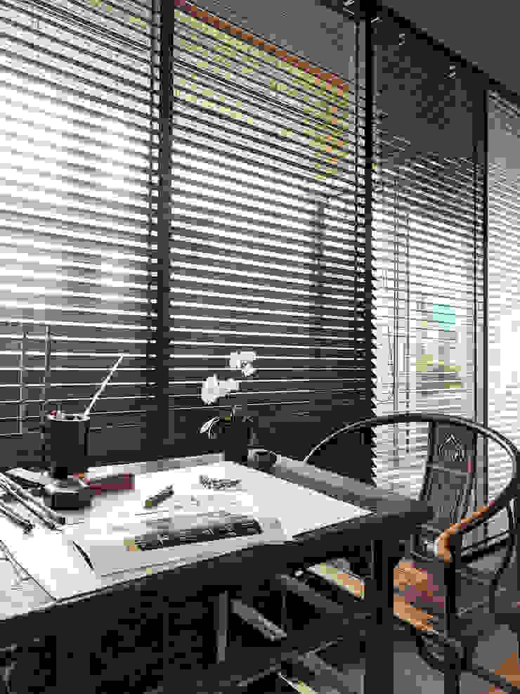 雲影徘徊的書香天地|百葉簾 MSBT 幔室布緹 Study/office Solid Wood Brown