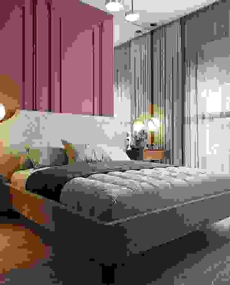Bedroom HC Designs BedroomBeds & headboards Copper/Bronze/Brass Pink