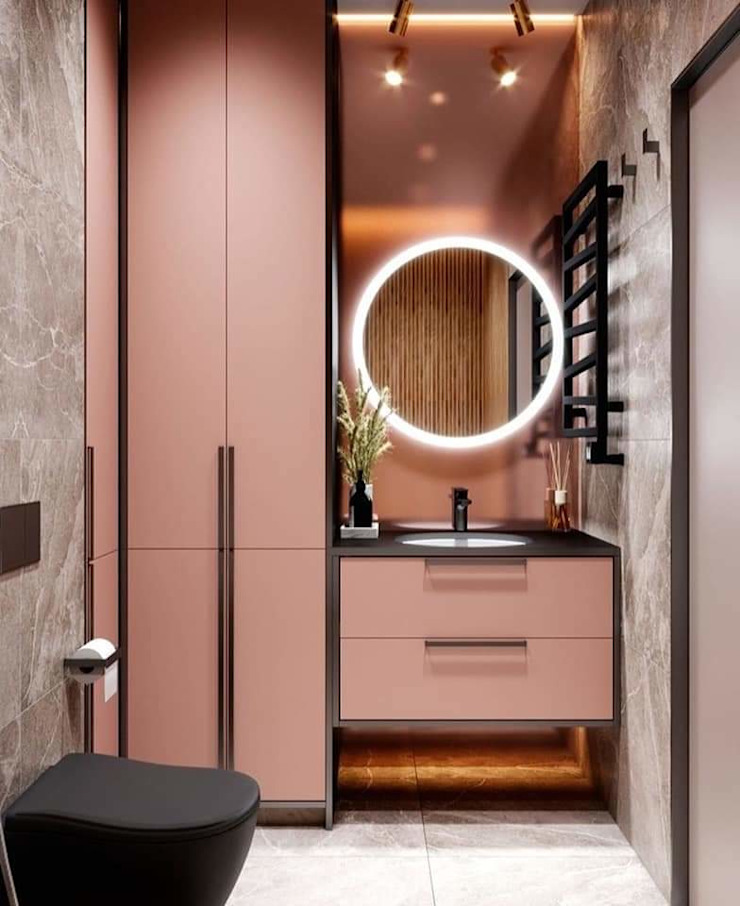 Dressing Area HC Designs Dressing roomWardrobes & drawers Chipboard Pink