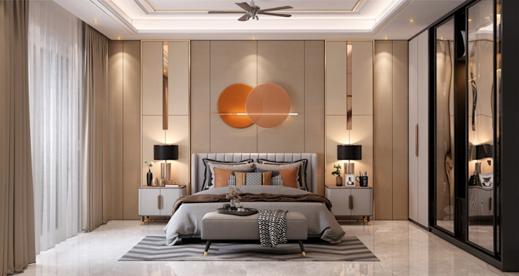 Master Bedroom HC Designs Small bedroom Wood Amber/Gold