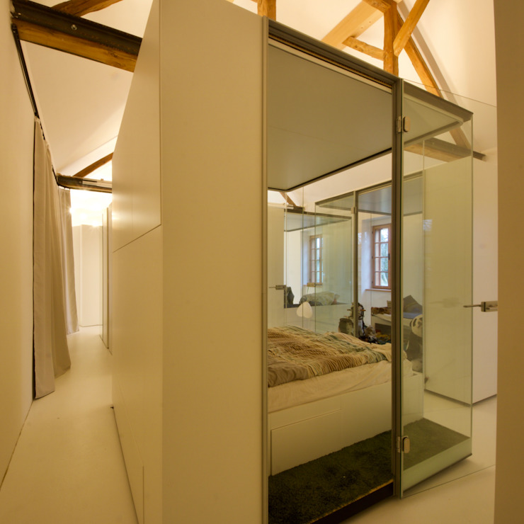 3rdskin architecture gmbh BedroomBeds & headboards White