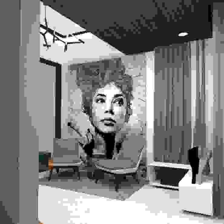 Foyer Studio ODD Modern corridor, hallway & stairs